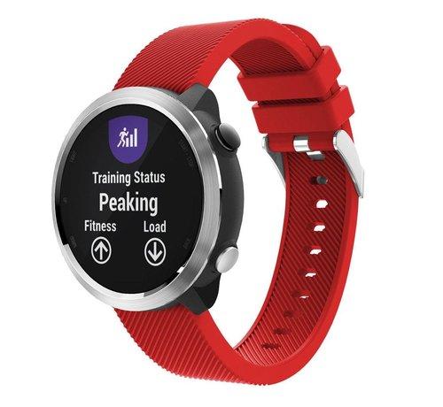 Strap-it® Strap-it® Garmin Vivoactive 4 silicone band - 45mm - rood
