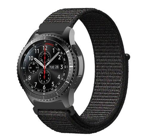 Strap-it® Strap-it® Samsung Galaxy Watch 45mm / 46mm nylon band (zwart)