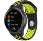 Strap-it® Garmin Vivoactive 4 sport band - 45mm - zwart/geel