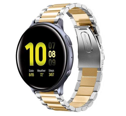 Strap-it® Strap-it® Samsung Galaxy Watch Active stalen band (zilver/goud)