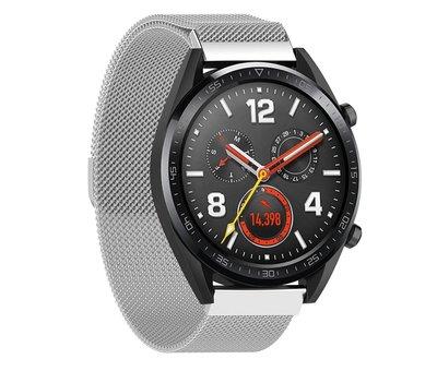Strap-it® Strap-it® Huawei Watch GT Milanese band (zilver)