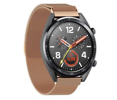 Strap-it® Strap-it® Huawei Watch GT Milanese band (rosé goud)