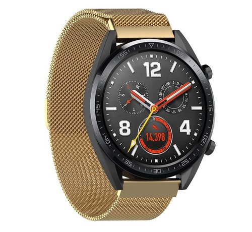 Strap-it® Strap-it® Huawei Watch GT Milanese band (goud)