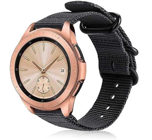 Strap-it® Strap-it® Samsung Galaxy Watch 41mm / 42mm nylon gesp band (zwart)