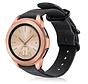 Strap-it® Samsung Galaxy Watch 41mm / 42mm nylon gesp band (zwart)