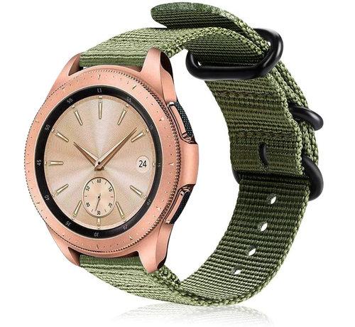 Strap-it® Strap-it® Samsung Galaxy Watch 41mm / 42mm nylon gesp band (groen)