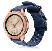 Strap-it® Samsung Galaxy Watch 41mm / 42mm nylon gesp band (blauw)