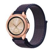 Strap-it® Samsung Galaxy Watch 41mm / 42mm nylon band (paars-blauw)
