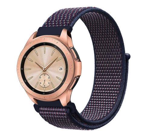 Strap-it® Strap-it® Samsung Galaxy Watch 41mm / 42mm nylon band (paars-blauw)