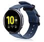 Strap-it® Samsung Galaxy Watch Active nylon gesp band (blauw)