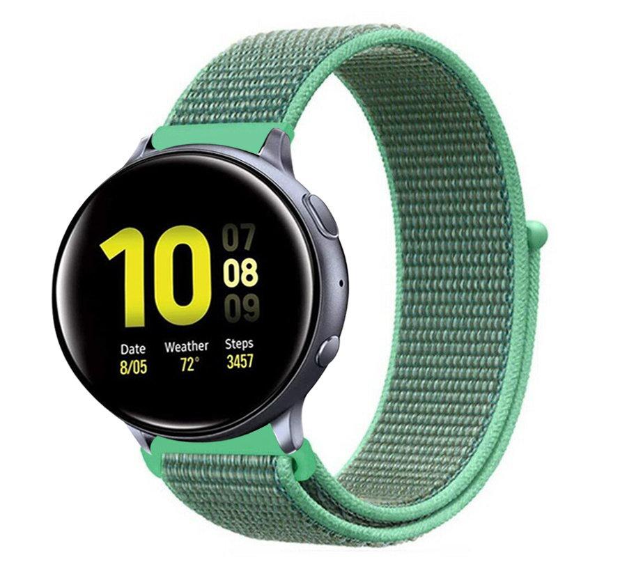 Strap-it® Samsung Galaxy Watch Active nylon band (mint)