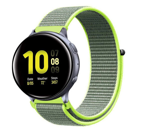 Strap-it® Strap-it® Samsung Galaxy Watch Active nylon band (fluoriserend)