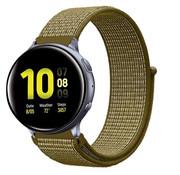 Strap-it® Samsung Galaxy Watch Active nylon band (olijf)