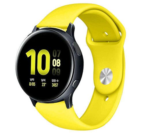 Strap-it® Strap-it® Samsung Galaxy Watch Active sport band (geel)