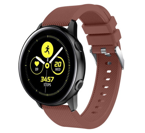 Strap-it® Strap-it® Samsung Galaxy Watch Active silicone band (koffiebruin)