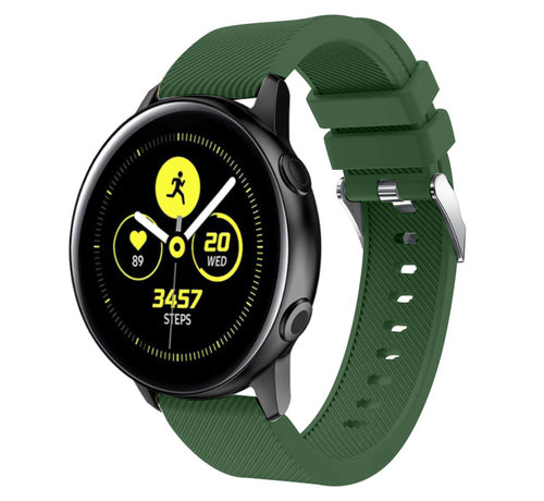 Strap-it® Strap-it® Samsung Galaxy Watch Active silicone band (legergroen)