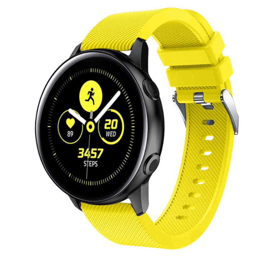 Strap-it® Samsung Galaxy Watch Active silicone band (geel)