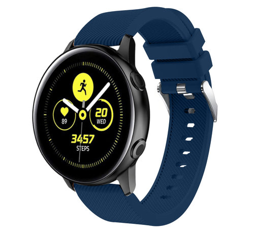 Strap-it® Strap-it® Samsung Galaxy Watch Active silicone band (donkerblauw)