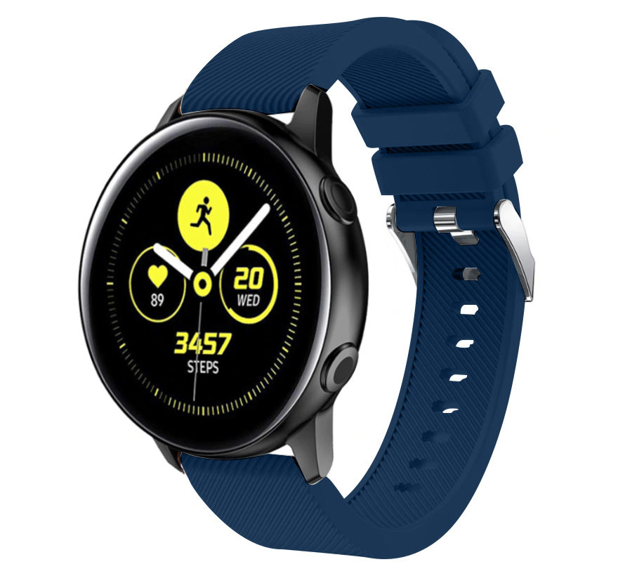 Strap-it® Samsung Galaxy Watch Active silicone band (donkerblauw)