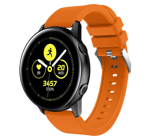 Strap-it® Strap-it® Samsung Galaxy Watch Active silicone band (oranje)