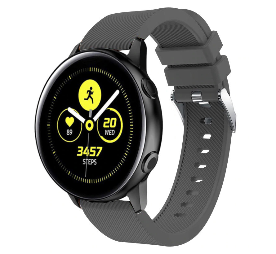 Strap-it® Samsung Galaxy Watch Active silicone band (grijs)