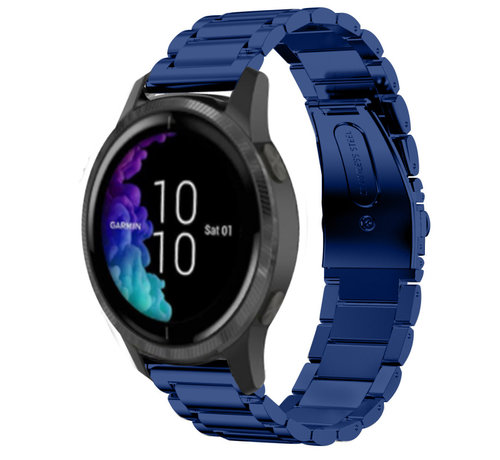 Strap-it® Strap-it® Garmin Venu stalen band (blauw)