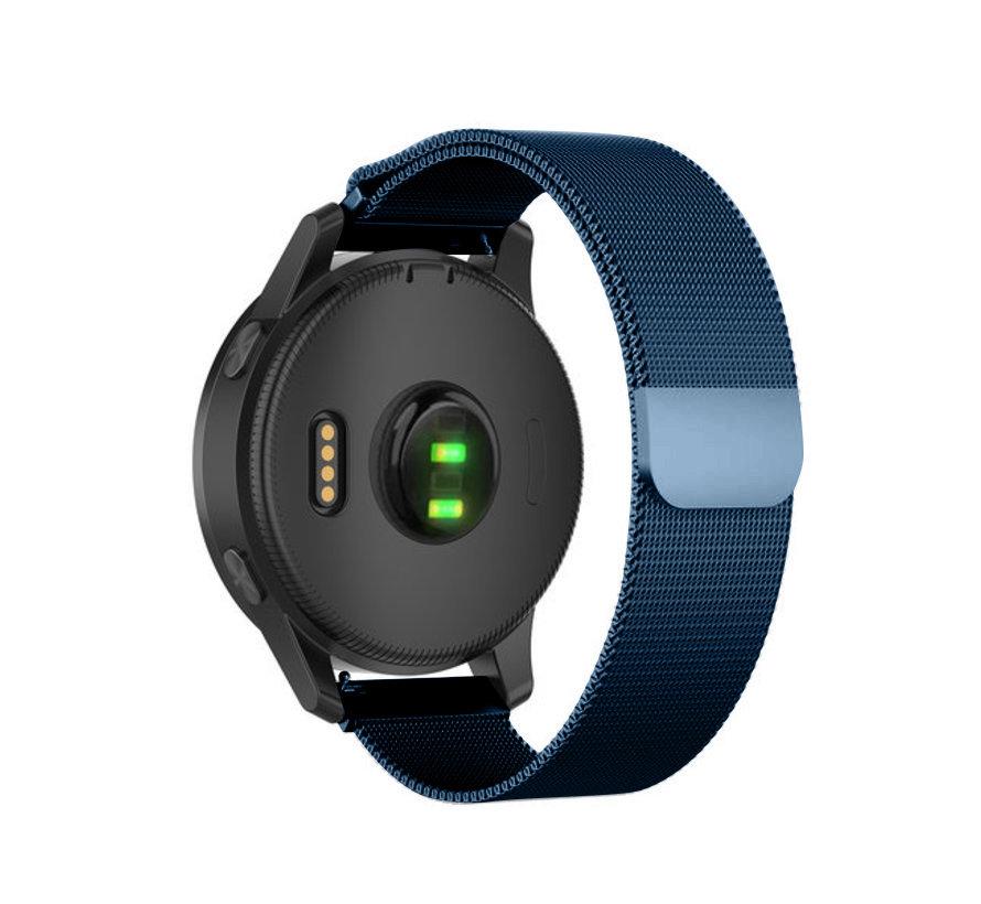 Strap-it® Garmin Vivoactive 4 Milanese band - 45mm - blauw