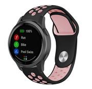 Strap-it® Garmin Vivoactive 4 sport band - 45mm - zwart/roze