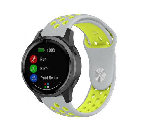 Strap-it® Strap-it® Garmin Vivoactive 4 sport band - 45mm - grijs/geel
