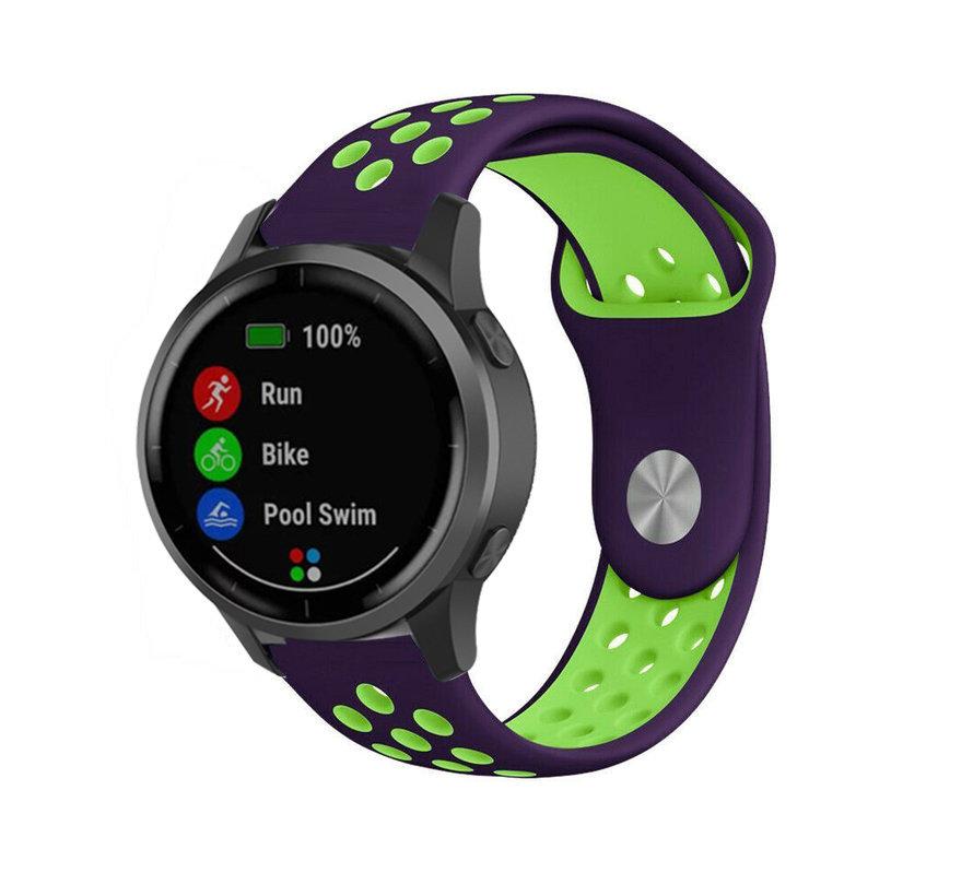 Strap-it® Garmin Vivoactive 4 sport band - 45mm - paars/geel