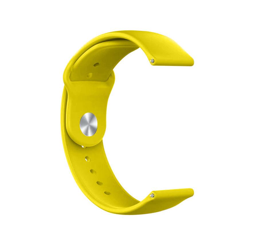 Strap-it® Samsung Galaxy Watch sport band 45mm / 46mm (geel)