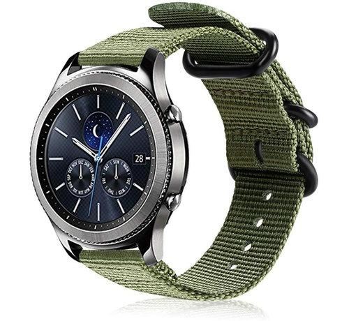 Strap-it® Strap-it® Samsung Gear S3 nylon gesp band (groen)