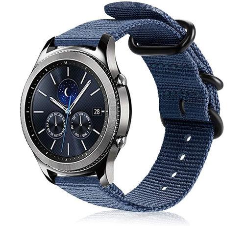 Strap-it® Strap-it® Samsung Gear S3 nylon gesp band (blauw)
