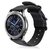 Strap-it® Samsung Gear S3 nylon gesp band (zwart)