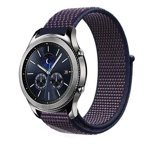 Strap-it® Strap-it® Samsung Gear S3 nylon band (paars-blauw)