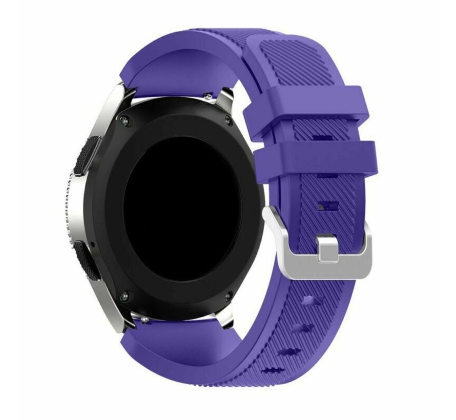Strap-it® Samsung Galaxy Watch 3 45mm siliconen bandje (paars)