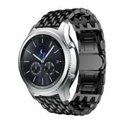 Strap-it® Samsung Gear S3 stalen draak band (zwart)