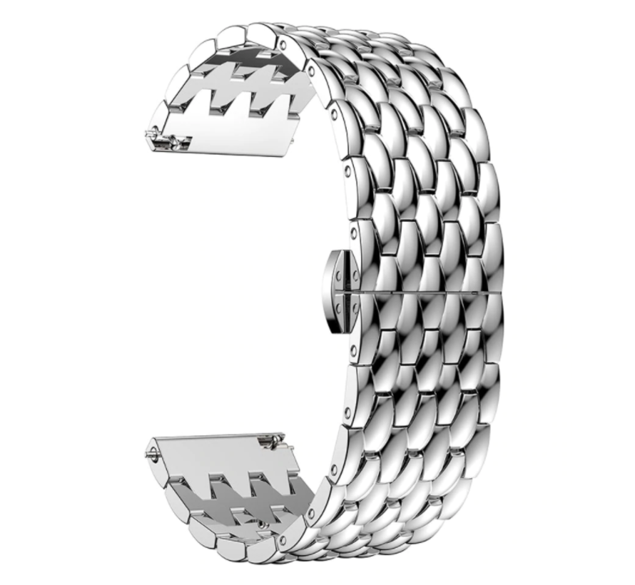 Strap-it® Samsung Gear S3 stalen draak band (zilver)