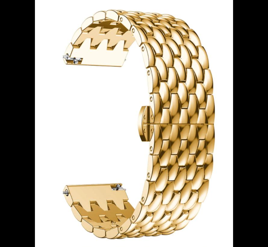 Strap-it® Samsung Gear S3 stalen draak band (goud)