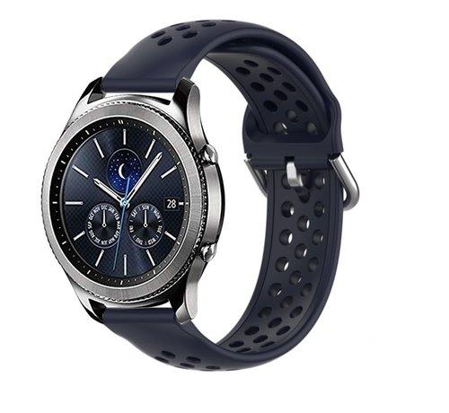 Strap-it® Strap-it® Samsung Gear S3 siliconen bandje met gaatjes (donkerblauw)