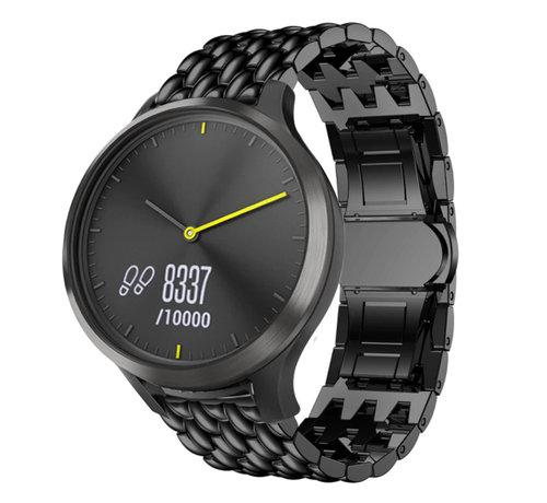 Strap-it® Strap-it® Garmin Vivomove HR stalen draak band (zwart)