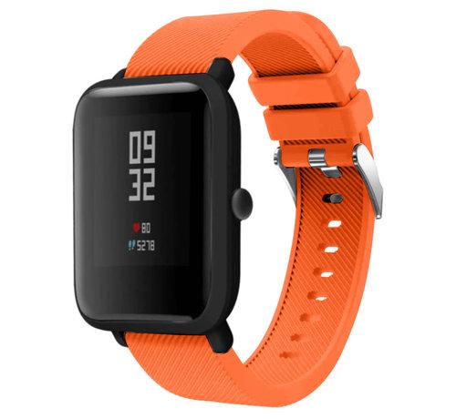Strap-it® Strap-it® Xiaomi Amazfit Bip silicone band (oranje)