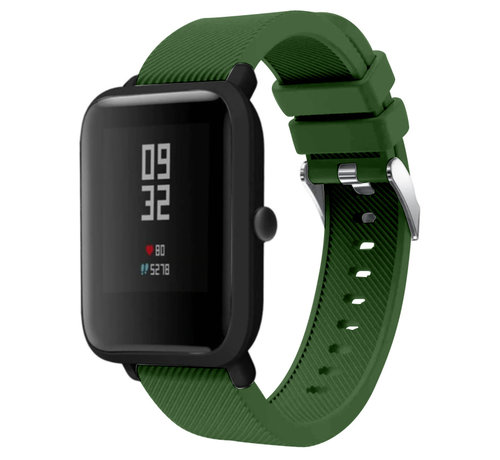 Strap-it® Strap-it® Xiaomi Amazfit Bip silicone band (legergroen)