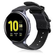 Strap-it® Samsung Galaxy Watch Active nylon gesp band (zwart)