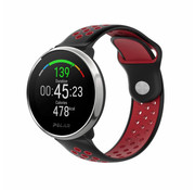 Strap-it® Polar Ignite sport band (zwart/rood)