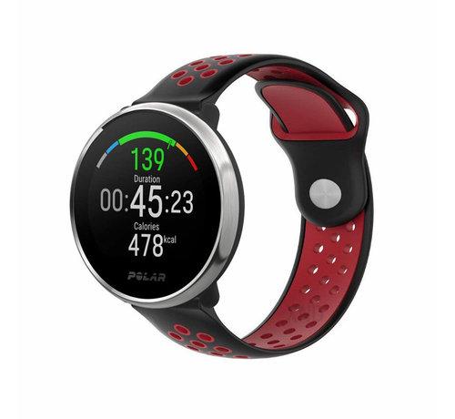 Strap-it® Strap-it® Polar Ignite sport band (zwart/rood)