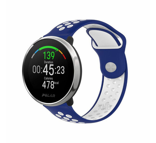 Strap-it® Strap-it® Polar Ignite sport band (blauw/wit)
