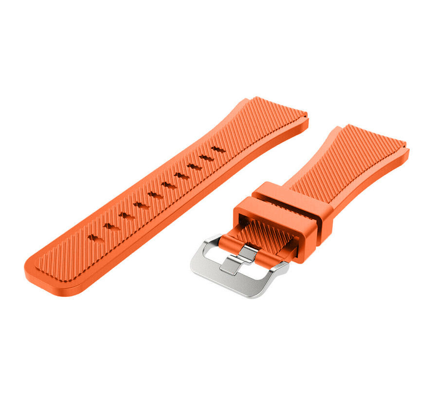Strap-it® Samsung Galaxy Watch Active silicone band (oranje)