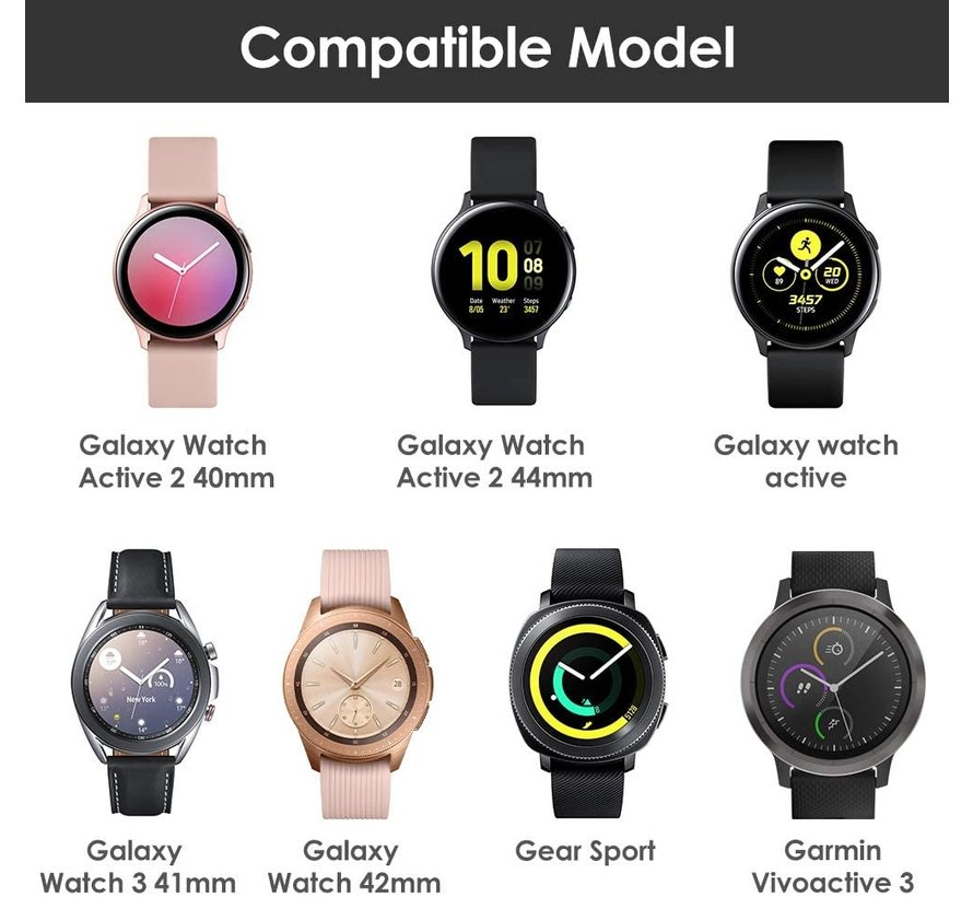 Strap-it® Samsung Galaxy Watch Active silicone band (koffiebruin)