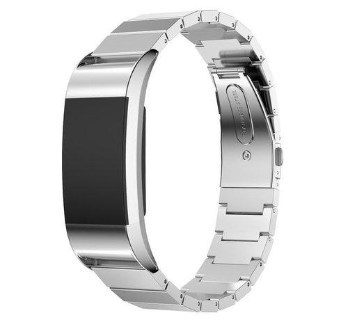 Strap-it® Strap-it® Fitbit Charge 2 metalen bandje (zilver)